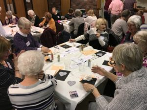 WI group dot painting session