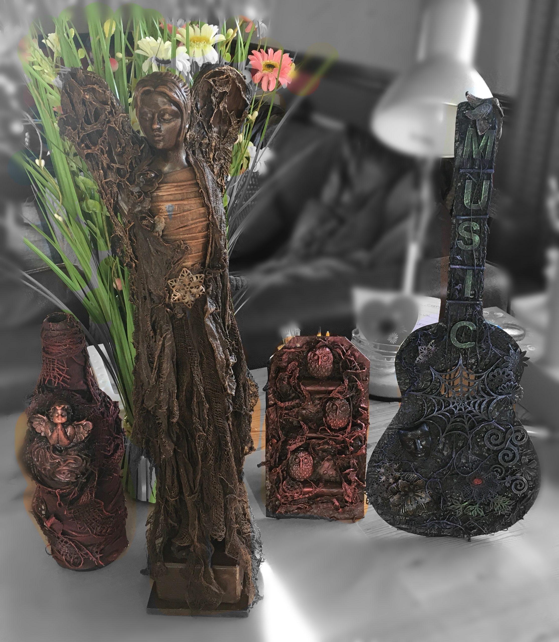 Selection of Powertex sculptures