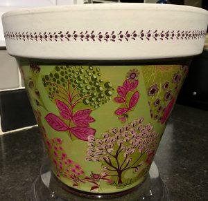 Decoupage plant pot