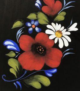 Image of folk art flowers.